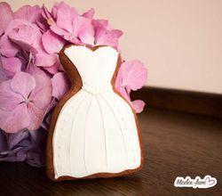 Perníkové svadobné šaty